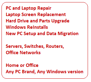 PC Laptop and Office Network Repair